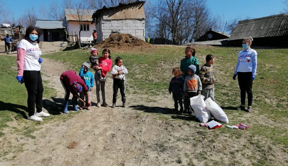 FARA team in northern Romania with a family